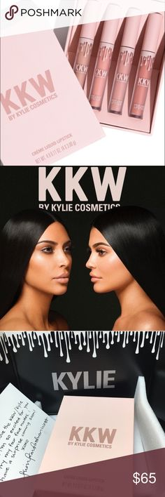 KKW Kylie Cosmetics KIm Kardashian lipstick gloss Brand new in package nudes set! Cheapest on posh for the entire set. My sister bought me an extra set already so I can sell this 1 :) Kylie Cosmetics Makeup Lipstick