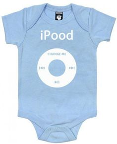 iPood Funny Baby One Piece Bodysuit Romper 6 Months in by Kiditude Baby Outfits, Kids Outfits, Funny Baby Clothes, Funny Babies, One Piece Bodysuit, Baby Bodysuit, Baby Onesie, Funny Baby Shower Gifts, Baby Gifts
