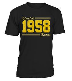 """# Born in 1958 Limited Edition Glitter Text Birthday Shirt - Limited Edition .  Special Offer, not available in shops      Comes in a variety of styles and colours      Buy yours now before it is too late!      Secured payment via Visa / Mastercard / Amex / PayPal      How to place an order            Choose the model from the drop-down menu      Click on """"Buy it now""""      Choose the size and the quantity      Add your delivery address and bank details      And that's it!      Tags: Vintage…"""