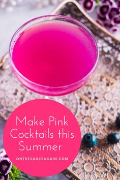 Cocktail And Mocktail, Pink Cocktails, Frozen Cocktails, Fancy Drinks, Drinking Around The World, Best Cocktail Recipes, Gin Lovers, Holiday Drinks, Thermomix