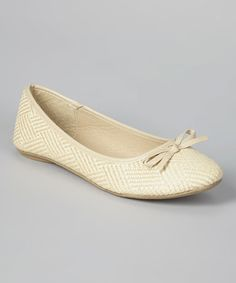 Look what I found on #zulily! Beige Grace Flat by Luo Luo #zulilyfinds