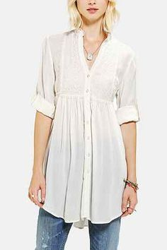 Band Of Gypsies Lace-Bib Tunic - Urban Outfitters