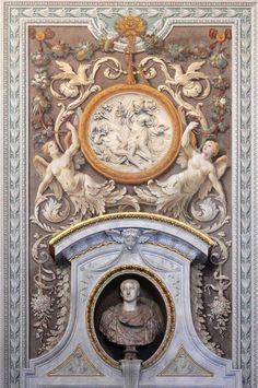 Baroque Pattern, Baroque Design, Royal Design, Rococo, Arabesque, Art Niche, Mural Art, Murals, Grisaille