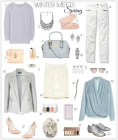 Put yourself in a spring state of mind by transitioning your winter wardrobe to spring pieces.