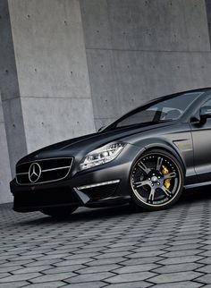 Mercedes-Benz CLS63 AMG in Matte Black Finish because you need a proper whip to drive in your gucci driving loafers