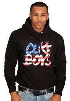 Tru Designz Men's French Montana Coke Boys U.S.A. Stars Hoodie MMG Bad Boy Maybach Music-XL-Black