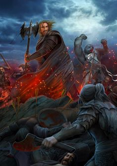 """""""Then he cast aside his shield, and wielded an axe two-handed, and each time he slew Húrin cried, 'Aurë entuluva! Day shall come again!' """" ~"""