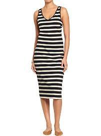 Women's Sleeveless Jersey Dresses