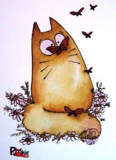 Era uma vez uma borboleta que fez o gatinho ficar vesguinho... ^=^
