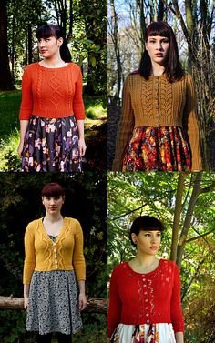 Andi Satterland designs. Chuck, Agatha, Marion, and Miette. Visit her webpage: http://untangling-knots.com Fantastic!!