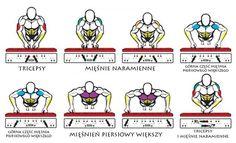 Wpływ pozycji rąk w trakcie robienia pompek