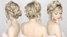 How to: Pull Through Crown Braided hair tutorial |Summer inspired, long, medium hair - YouTube