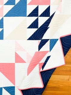 Whirlwind quilt pattern is modern quilt pattern by Cotton and Joy featuring half-square triangles and it's perfect for beginner quilters Triangle Quilt Pattern, Triangle Quilts, Triangles, Quilting For Beginners, Quilting Tutorials, Quilting Projects, Vintage Quilts Patterns, Modern Quilt Patterns, Modern Quilting Designs