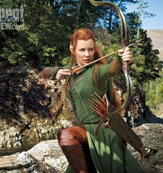 First Look! Evangeline Lilly as elf warrior Tauriel in The Hobbit: The Desolation of Smaug