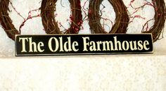 The Olde Farmhouse - Primitive Country Painted Wall Sign, Country decor, Wall Decor, Farm Sign, Farm Decor, Farmhouse decor, farmhouse sign by thecountrysignshop on Etsy