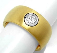 Foto 1, Brillant-Ring River Lupenrein 20G-18K-Traum! Luxus! Neu, S8715