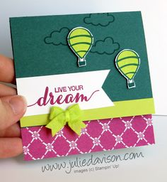 Stampin' Up! Dare to Dream ~ host exclusive stamp set ~ 2017-2018 Annual Catalog ~ www.juliedavison.com