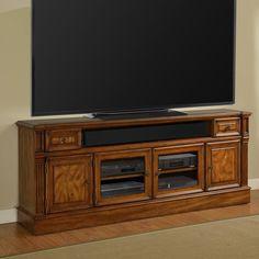 Parker House Toscano 84 in. TV Console - Antique Vintage Dark Chestnut - @hayneedle
