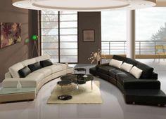 Schönes Wohnzimmer Deckendekoration Modelle,Luxus Ledersofa Im Wohnzimmer  Setzt Modelle
