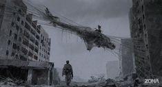 If the new TV series Zona is half as cool, weird, and intriguing as the concept art by Alex Andreev, it will sure be a must watch. Based on a short sci-fi novel by brothers Arkady and Boris Strugatsky, Zona is scheduled to launch in Russia in Arte Horror, Horror Art, Fantasy World, Fantasy Art, Alex Andreev, Sci Fi Tv Series, Post Apocalyptic Art, Apocalypse Art, Sci Fi Novels
