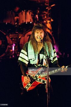 Blackie Lawless of WASP & his politically incorrect guitar. Cool!