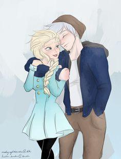 Elsa and Jack Frost Fan Art Elsa And Jack Frost, Jack Y Elsa, Jake Frost, Jelsa, Cute Disney, Disney Art, Disney Movies, Sassy Disney, Disney Couples