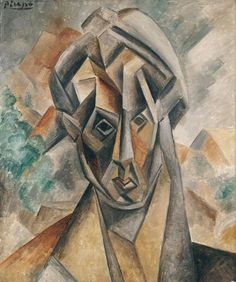Pablo Picasso - Portrait of Fernande Olivier, 1909 at Städel Art Museum Frankfurt Germany Picasso Art, Picasso Paintings, Pablo Picasso Cubism, Städel Museum, Cubist Portraits, Cubism Art, Guernica, Georges Braque, Spanish Artists