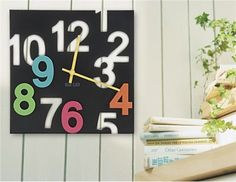 Fancy and Funny Square Wall Clock (Black)