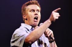 "Brian Regan ""I would have been a lot better off if I'd studied more when I was growing up, y'know. But you know where it all went wrong was the day they started the spelling bee. Because up until that day I was an idiot, but nobody else knew."""