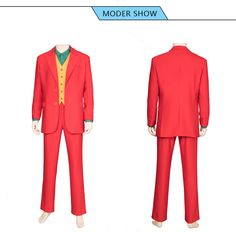 Batman Joker cosplay Costumes Red Man Coat is manufactured from quality material, with accurate design.This Batman Joker Costume supports customization. Joker Cosplay Costume, Anime Costumes, Movie Costumes, Man Coat, Lolita Dress, Costume Design, Suit Jacket, Batman, Blazer