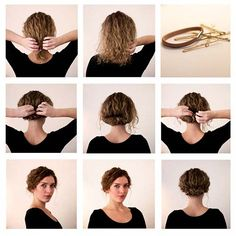 20 Incredibly Stunning DIY Updos For Curly Hair Curly hair is phenomenal. But coily hair tends to ge Party Hairstyles For Long Hair, Haircuts For Curly Hair, Loose Hairstyles, Easy Hairstyle, Hairstyle Ideas, Woman Hairstyles, Simple Hairstyles, Short Haircuts, Wedding Hairstyles