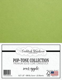 SOUR APPLE GREEN Cardstock from Cardstock Warehouse  85 x 11  PREMIUM 100 LB COVER  25 Sheets ** Want to know more, click on the image.(It is Amazon affiliate link) #love
