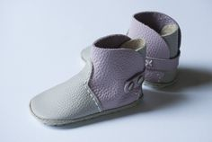 First baby Shoes; baby boots, leather baby shoes, DIY, hand made, gift, baby shower
