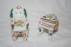 Miniature Japan Chair and Piano Doll by TheTreasureHuntLLC on Etsy, $8.95