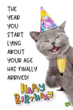 Funny Happy Birthday Images - Happy Birthday Funny - Funny Birthday meme - - The year you start lying about your age has finally arrived. The post Funny Happy Birthday Images appeared first on Gag Dad. Funny Happy Birthday Images, Happy Birthday Best Friend, Happy Birthday For Him, Birthday Wishes For Myself, Birthday Wishes Quotes, Happy Birthday Messages, Funny Birthday Cards, Birthday Greetings, Humor Birthday