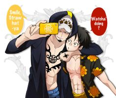 Trafalgar D. Water Law, Monkey D. Luffy One piece