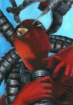 Spiderman VS Doctor Octopus, in luca strati's color Comic Art Gallery Room Marvel Comics, Comics Spiderman, All Spiderman, Spiderman Kunst, Marvel Art, Marvel Heroes, Marvel Characters, Comic Book Characters, Captain Marvel