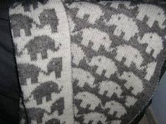 Elefanttæppe dobbeltstrik
