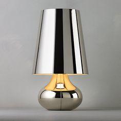 Buy Kartell Cindy Table Lamp, Platinum Online at johnlewis.com