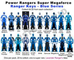 Power Ranger Keys Blue Set - Proposal by LavenderRanger