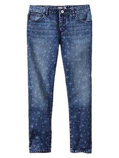 1969 star print super skinny skimmer jeans