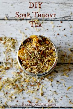 DIY Sore Throat Tea part cinnamon bark 1 part marshmallow root 1 part drie Tea Recipes, Real Food Recipes, Cafe Recipes, Recipies, Sore Throat Tea, Homemade Tea, Tea Blends, Herbal Remedies, Herbalism