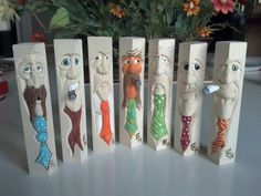 Tie Guys carved by Steve Coughlan