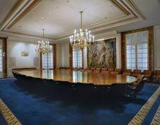Jacqueline Hassink The meeting table of the Board of Directors of BNP Paribas (Dec. Chromogenic prints 50 x Edition of 10 23 x Edition of 10 Industrial Companies, Meeting Table, Meeting Rooms, Dining Table, Interior Design, Architecture, Outdoor Decor, House, Board Rooms
