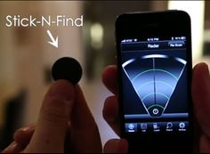 Stick-N-Find —bluetooth stickers you place on items, then locate them with your phone