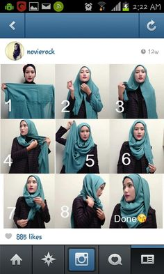 tutorial hijab... simple, like it!