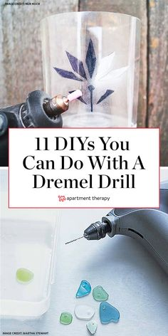 Here are 11 creative things you probably didn't know you could do with a dremel drill like turning geodes into air plant containers and etching glass jars. Dremel 4000, Dremel Drill, Dremel Bits, Dremel Carving, Dremel Tool Projects, Craft Projects, Dremel Ideas, Project Ideas, Craft Ideas