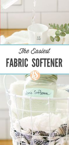 Yes, a natural liquid fabric softener does exist. Just one ingredient is all you need to make this all-natural laundry alternative. Natural Cleaning Solutions, Natural Cleaning Products, Diy Products, Best Dishwasher Soap, House Cleaning Tips, Cleaning Hacks, Laundry Alternative, Homemade Bleach, Eco Friendly Cleaning Products