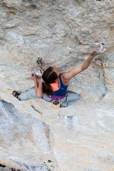 Finger hold - Martina Cufar climbing in Gorges du Tarn | Flickr - Photo Sharing!