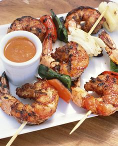 Quick and Delicious Honey, Ginger, Lime Glazed Shrimp Grilling Recipes, Fish Recipes, Seafood Recipes, Great Recipes, Cooking Recipes, Favorite Recipes, Healthy Recipes, Recipies, Shrimp Dishes